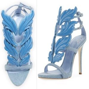Giuseppe Zanotti Cruel Summer Wing Denim Sandals